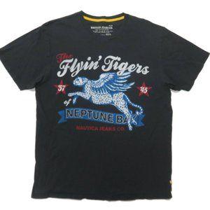 Nautica Mens Graphic T-Shirt XL Blue Crew Neck